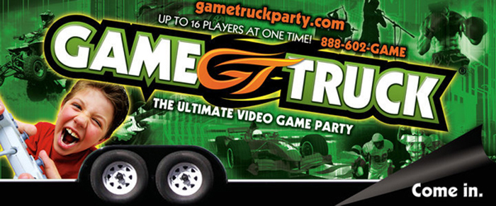 Street party game truck coupons