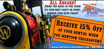 Santa's Village Azoosment Park's Trackless Train Rental Coupon