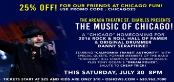 Save 25% Off Tickets! Arcada Theatre Presents THE MUSIC OF CHICAGO!