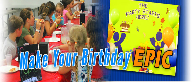 Epic air birthday party coupons