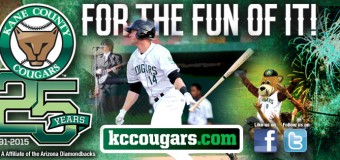 Kane County Cougars Homestand July 8 – 13, 2015