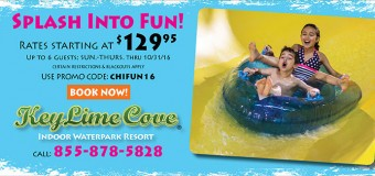KeyLime Cove Indoor Waterpark Resort Discount Overnight Stays