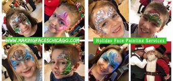 Holiday Face Painting in Chicago & Suburbs