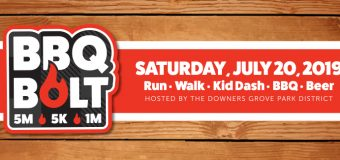 Downers Grove Park District BBQ Bolt: Early Registration Ends June 15th