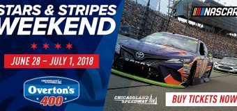 Chicagoland Speedway Hosts the Overton's 400 Monster Energy NASCAR Cup Series!