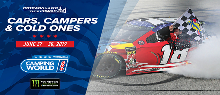 Chicagoland Speedway Hosts the Camping World 400 Monster Energy NASCAR Cup Series!
