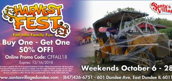 Santa's Village Azoosment Park Annual Harvest Fest Coupon