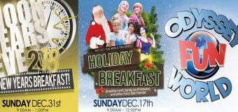 Odyssey Fun World Breakfast With Santa, Ice Princesses and Fairy-Tale Friends!