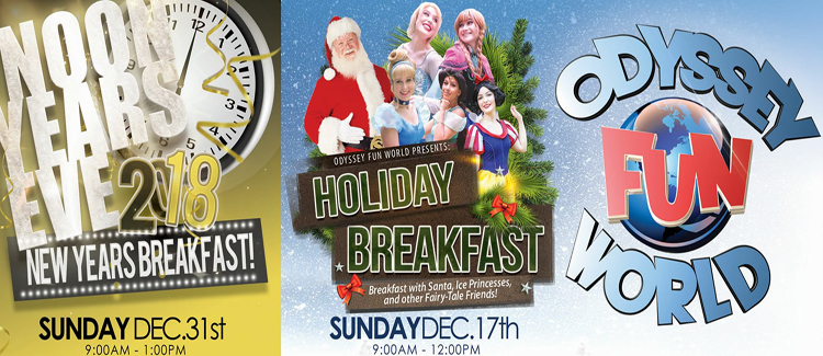 Odyssey Fun World New Years Eve Breakfast Party For The Whole Family