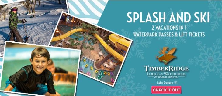 Timber Ridge Lodge & Waterpark – Splash & Ski Vacation Package