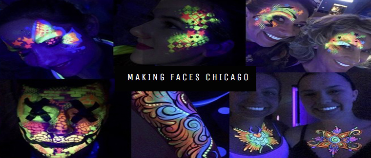 Black Light Face Painting Parties
