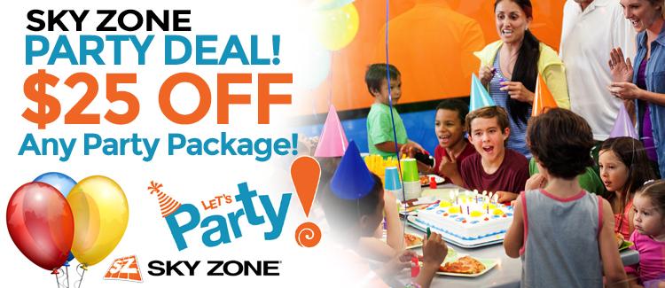 Sky Zone Elmhurst Party Deal Coupon