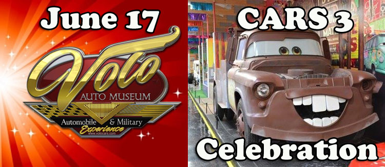 Volo Auto Museum Free Cars 3 Movie Event