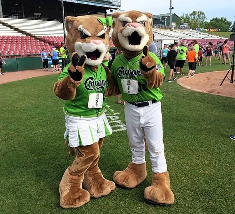 Kane County Cougars Mascots
