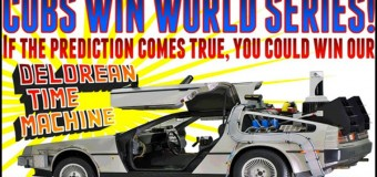 Volo Auto Museum Giving Away Back To The Future Delorean Time Machine If Cubs Win The World Series In 2015