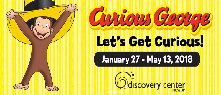 "Curious George ""Let's Get Curious"" Visits The Discovery Center Museum"