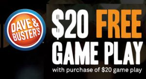 picture about Dave and Busters Printable Coupons named Dave Busters Absolutely free Video game Engage in Price reduction Coupon