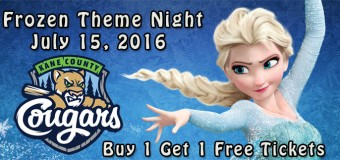 Kane County Cougars to Host Frozen Night on July 15