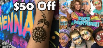 Face Painting & Henna Tattoo Party Discounts