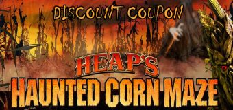 Heap's Haunted Corn Maze Coupon