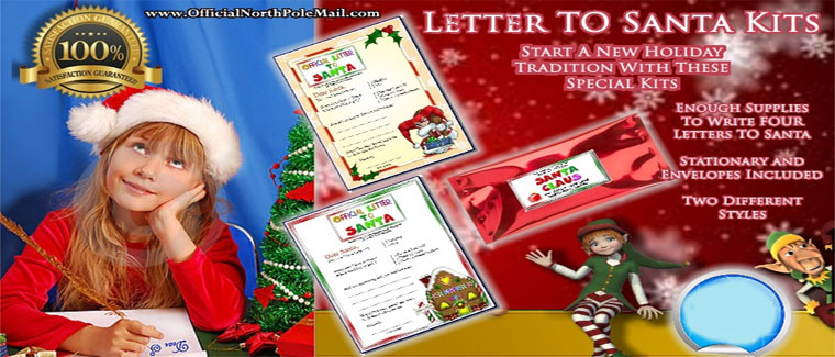 Write A Letter To Santa Claus Kits
