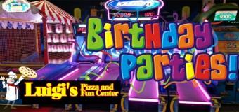 Luigi's Pizza Fun Center Laser Tag Birthday Party Coupon
