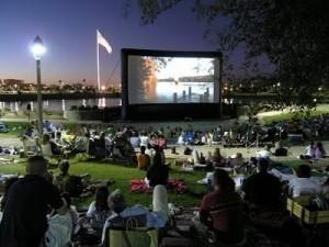outdoor movie screen rental chicago