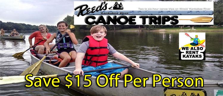 Reed's Kankakee River Canoe Trips Coupon