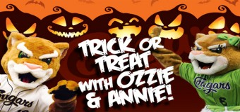 Trick Or Treat With Ozzie & Annie From The Kane County Cougars