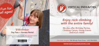 Vertical Endeavors Indoor Rock Climbing Coupon